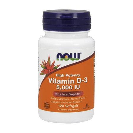 NOW Foods Vitamin D-3 5000 120 softgel