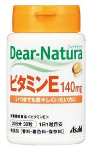 Японские Asahi Dear-natura  витамин  E 200 МЕ (140 мг) 30 ЖК