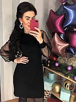 Элегантное черное вечернее платье