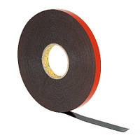 Клейкая 3M™ VHB 4991 лента серого цвета устойчива к пластификаторам и растворителям. Скотч 2,3 мм х 16,5 м х 9