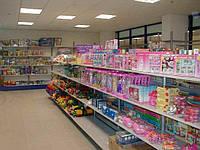 Торговый стеллаж  WIKO (ВИКО) для детских магазинов. Стеллажи для продажи игрушек и товаров для детей