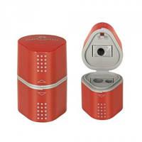 Точилка Grip2001 с контейнерами на 3 отверстия красный/синий Faber-Castell.