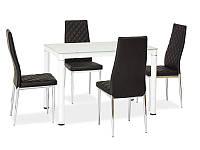 Стол обеденный стеклянный Galant 110x70 Signal белый