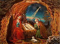 """Икона из янтаря """" Рождество Христово """""""