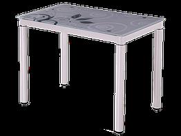 Стол обеденный стеклянный Damar 100x60 Signal белый