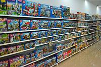 Стеллажи пристенные ВИКО для детских магазинов. Торговый стеллаж с полками для игрушек. WIKO (ВИКО) Киев