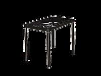 Стол обеденный стеклянный Damar 100x60 Signal черный