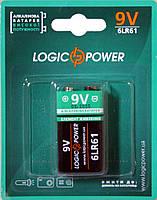 Батарейка LogicPower Alkaline 6LR61 9V (Крона)