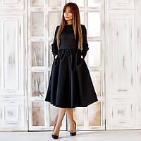 Красивое платье-миди из габардина