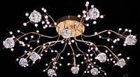 Люстра галогеновая для зала на 16 лампочек