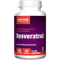 Ресвератрол (Resveratrol), Jarrow Formulas, 100 мг, 60  капсул