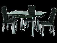 Стол обеденный стеклянный GD-082 Signal черный