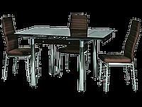 Стол обеденный стеклянный GD-082 Signal коричневый