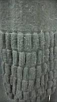 вязаный шарф из ангоры цвет серый с элементами жатки
