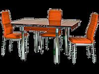 Стол обеденный стеклянный GD-082 Signal оранжевый