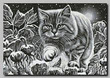 """Схема для вышивки бисером """"Ночной кот"""""""