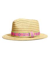 Бежевая соломенная шляпа H&M, фото 1