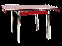 Стол обеденный стеклянный GD-082 Signal красный