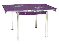 Стол обеденный стеклянный GD-082 Signal фиолетовый