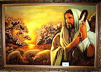 """Икона из янтаря """" Иисус Христос """""""