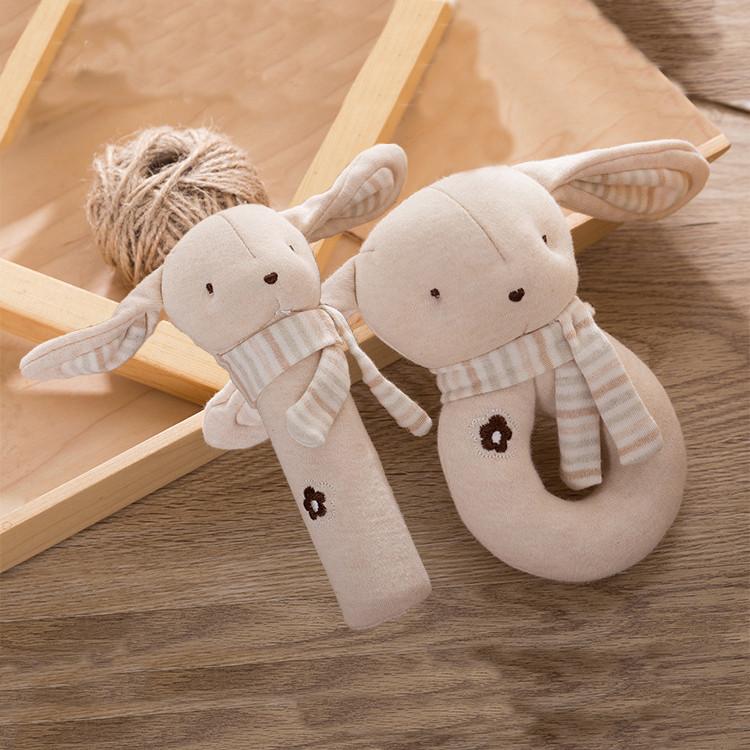 Набор мягких игрушек - погремушек Зайчата Dolery
