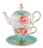 """Чайный набор """"Роза"""" (Milano Rose Pavone) из костяного фарфора"""