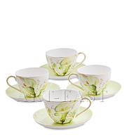"""Чайный набор на 4 персоны """"Калла"""" (Calla Charme Pavone) из костяного фарфора"""