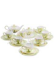 "Чайный сервиз на 6 персон ""Калла"" (Calla Charme Pavone) из костяного фарфора 22 пр-та"