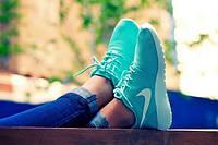 Кроссовки женские Nike Roshe Run бирюзовый цвет копия