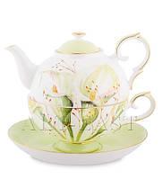 "Чайный набор ""Калла"" (Calla Charme Pavone) из костяного фарфора"