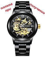 Мужские механические часы скелетон FNGEEN Skeleton с автоподзаводом