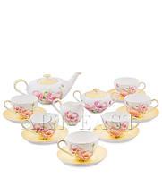 """Чайный сервиз на 6 персон """"Пионы"""" (Torino Peony Pavone) из костяного фарфора 15 пр-в"""