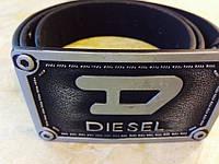 Ремень DIESEL (Дизель) черный большая пряжка