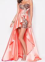 Вечернее платье розовое со шлейфом., фото 1