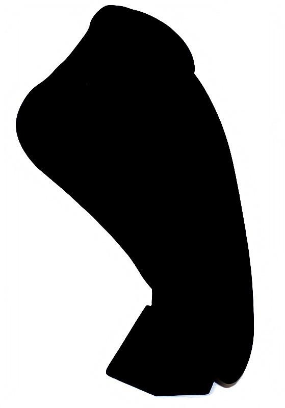 """Подставка  под бижутерию  """"Бархатная шея"""" чёрного цвета. Высота: 35 см. Ширина: 23 см."""