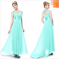 Вечернее голубое  платье с паетками