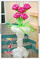 Стойка с розами. Подарки на 14 февраля