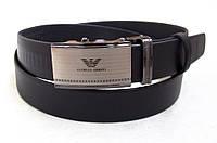 Брючный мужской кожаный ремень Armani, фото 1