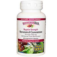Ресвератрол (Resveratrol), Natural Factors, 125 мг,  60  капсул
