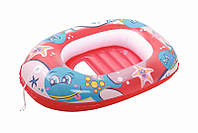 Лодка надувная детская Bestway 102х69 см Дельфін