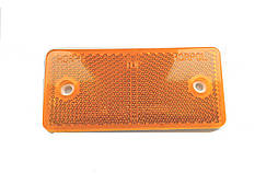 Відбивач прямокутний жовтий 95х45мм/1670/UO 028