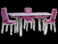 Стол обеденный стеклянный GD-018 Signal фиолетовый
