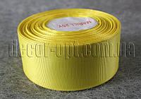 Лента репсовая желтая 4 см 25 ярд арт.15