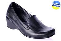 Женские туфли кожаные  mida 21135ч чёрные   весенние , фото 1