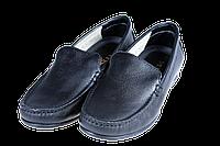 Мужские мокасины кажаные mida 3193ч чёрные  весенние
