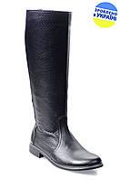 Женские сапоги кожаные avis 620142 черные   весенние