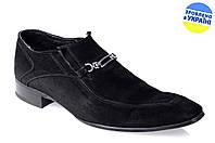 Мужские классические туфли caman 55563170 черные   весенние