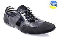 Мужские туфли стиля джинс intershoes v11176 черные   весенние , фото 1