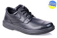 Мужские туфли комфорт floare 35030100 черные   весенние