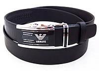 Мужской брючный кожаный ремень Giorgio Armani, фото 1